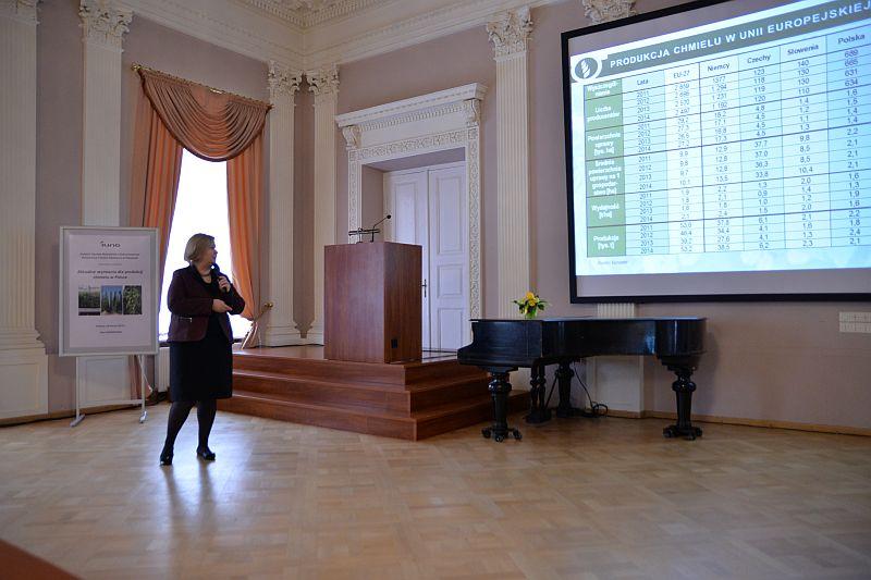 """Warsztaty naukowe """"Aktualne wyzwania dla produkcji chmielu w Polsce"""""""