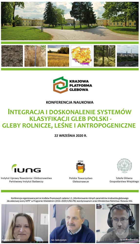 Integracja i doskonalenie systemów klasyfikacji gleb Polski - gleby rolnicze, leśne i antropogeniczne