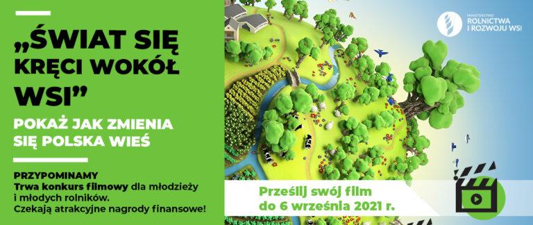 Logo - Świat się kręci - konkurs filmowy